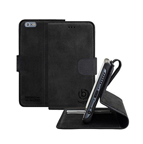 Bugatti 24944 Madrid Booklet Schutzhülle für Apple iPhone 6/6s schwarz Schwarz