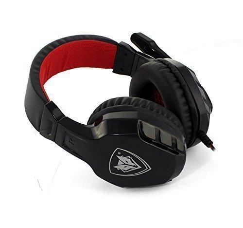 NUBWO NO3000 Casque Gaming Headset Over-Ear Stéréo avec Un Microphone Antibruit de Haute Sensibilité & Un Contrôle de Volume pour PC, PS4, Portable (Red)