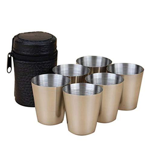 langlebig Edelstahl kaffeetasse tragbare doppelwand reisebecher kaffeetasse Tee Tasse, Zeigen als pic, 50 ml ()