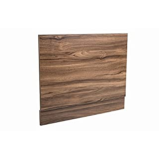 700 mm Walnut Effect Front Straight Wrapped Wood Bath Panel