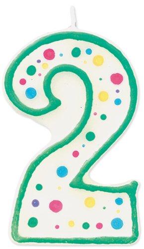 Geburtstag-kerze-sticks (Wilton Kerze in Form der Zahl 2, Grün)