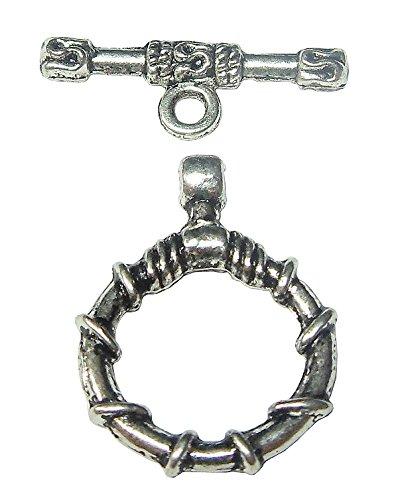 nebel Verschluss Metall Knebelverschluss 15mm Silber Verbinder Kettenverschluss Toggle T Bar Kettenverbindung Für Schmuck J16 (Knebel-verschlüsse)