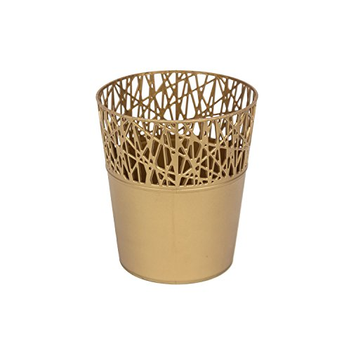 Rond cache-pot 14 cm CITY en plastique romantique style en dorée couleur
