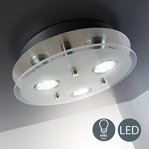 B.K.Licht - Lámpara plafón LED con forma redonda, 3 focos y para...