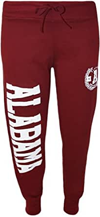PaperMoon - Damen USA Alabama Chicago Druck Jogginghose Hose - Wein - 36-38