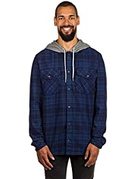 Quiksilver Snap Up Flannel - Long Sleeve Hooded Shirt For Men EQYWT03578
