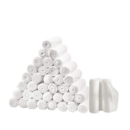 Zmoon 36 Stücke Gaze Bandage Rolls, 3 Zoll x 4,92 Yards Gerollt Medizinische Klasse Sterile Gaze/gestreckt Erste Hilfe Wunde Pflege Baumwolle Verband -