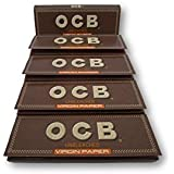 OCB Virgin Unbleached 1 1/4 Rolling Papers Pack Of 5 Booklets From SUDESH ENTERPRISES