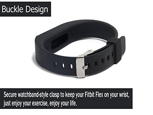 chronex replacement wristband band strap for fitbit flex with adjustable buckle - l size black (no tracker) Chronex Replacement Wristband Band Strap For Fitbit Flex With Adjustable Buckle – L Size Black (No Tracker) 41rcAYRuf9L