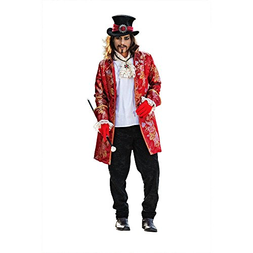 Elbenwald - Cappellaio Matto - Costume Da Carnevale Per Uomo - Set In 4 Pezzi - Giacca, Pantaloni, Camicia E Cappello - Tratto Da Alice In Wonderland - Xl
