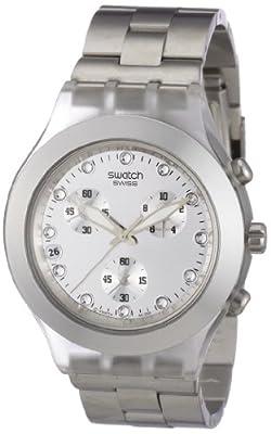 Reloj de mujer Swatch DIAPHANE CHRONO de cuarzo, correa de acero inoxidable color plata de Swatch