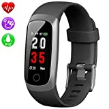 Kilponen Fitness Tracker with Heart Monitor - Smart Watch Fitness Wristband Blood Pressure Bracelet Activity Tracker Waterproof IP67 with Stopwatch, GPS, Pedometer, Step Counter for Kids Women Men