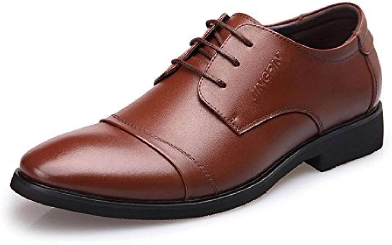 LEDLFIE Herren Lederschuhe Business Casual Schuhe Kleid Lederschuhe