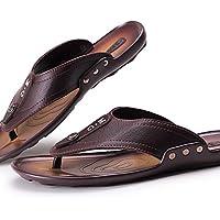 NTX/Herren Schuhe Casual Flip Flops, Schwarz/Braun