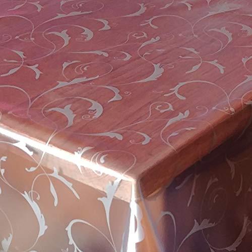 DecoHomeTextil d-c-fix Transparente Folie 0,2mm Barock Paradiso Lebensmittelecht Breite & Länge wählbar abwaschbare Tischdecke Eckig 120 x 180 cm