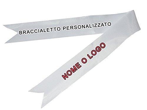 ARMBAND AUF BAND PERSONALIZZATBILE SAMARE PERSONALISIERTE NAME LOGO (Senza La Satin)