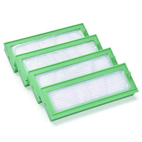 4 pack HEPA Allergy Filter Accessory Kits for Vorwerk Kobold VR 200