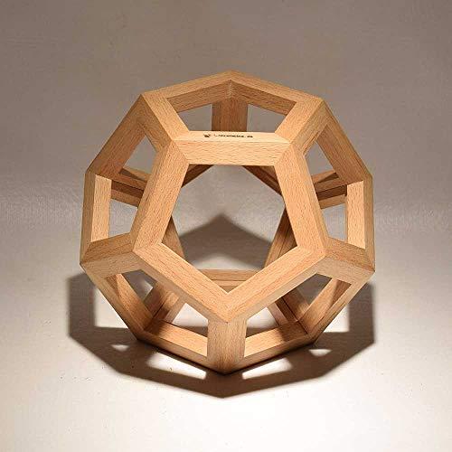 Dodecaedro de madera como lo dibujó Leonardo Da Vinci