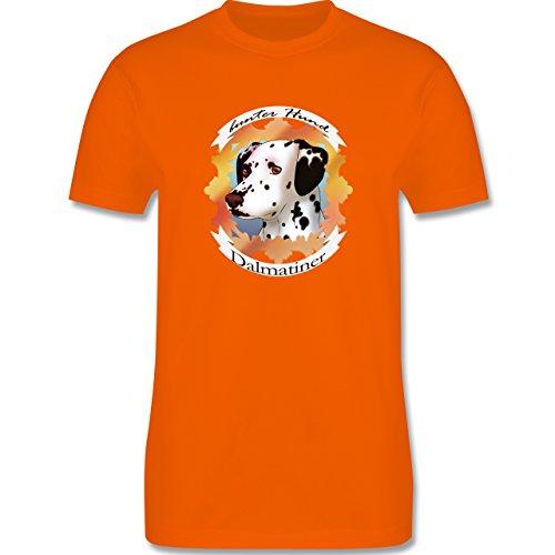 Hunde - Dalmatiner - bunter Hund - Herren Premium T-Shirt Orange