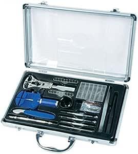 Mannesmann - Set attrezzi per orologiaio, in valigetta di alluminio