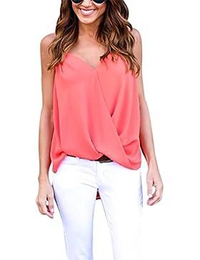 Aisuper - Camiseta sin mangas - Sin mangas - para mujer