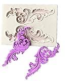 HENGSONG Europäische Blume Spitze Mini Silikonform Kuchenform DIY Fondant Süßigkeiten Schokolade Form Backen Formen Dekorieren (Stil 4)