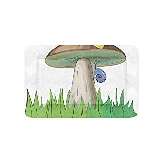 Enhusk Wild Life Mushroom Cute Cartoon Extra Large Bedding Soft Pet Dog Beds Couch For Puppy And Cats Furniture Mat Cave Pad Cover Cushion Indoor Gift Supplier 36 X 23 Inch