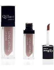 Ularma Hot Selling Waterproof Matte liquid lipstick Long Lasting lip gloss Qibest Lipstick Brown (18)