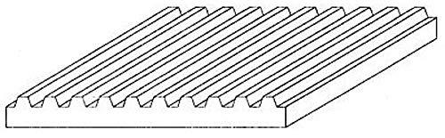 Evergreen 4527 - Tôle ondulée, Jeu, 1 x 150 x 300 mm, Grille 1.50 mm, 1 pièce