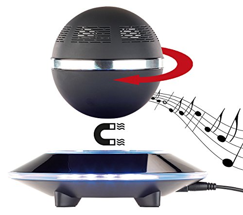 auvisio Schwebender Lautsprecher: Freischwebender Lautsprecher mit Freisprecher & 4.1 Bluetooth, 10 Watt (Schwebende Kugel)