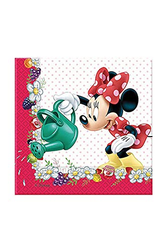 Unique Party Supplies Disney Minnie Maus Papier-Servietten, aus der Jam Packed-Kollektion, 20 Stück
