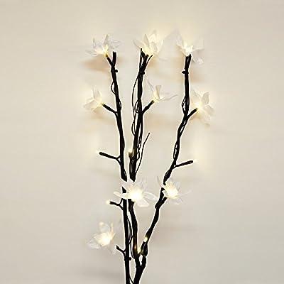 Modern Decorative Twig Branch Lights With Elegant Flowers