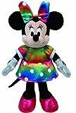 TY 41084 - Disney - Minnie Glitter mit Sound, buntes glitzerndes Kleid und Schleife, 20 cm