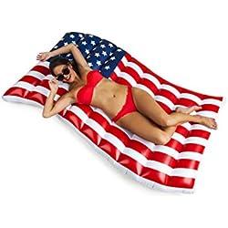 BigMouth Inc – Flotador Hinchable Bandera Estados Unidos Gigante – Inflable Colchoneta Piscina Playa