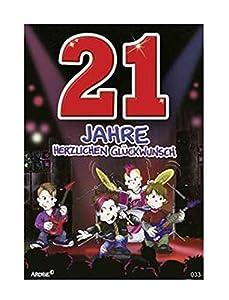 Depesche 5598.033Tarjeta de felicitación con diseño de Archie, 21cumpleaños