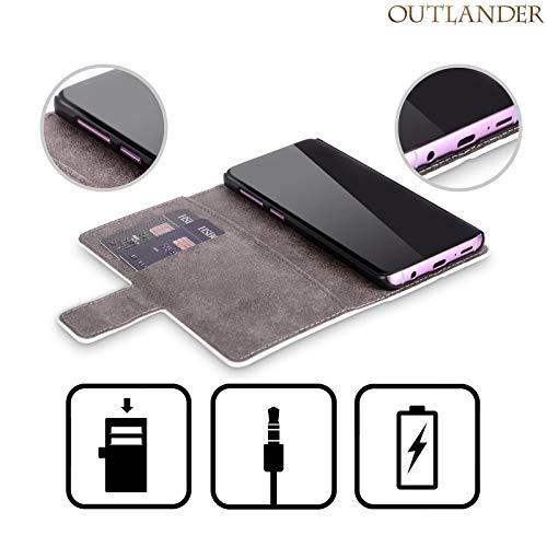 Head Case Designs Officiel Outlander Carte Cachets Et Icônes Coque en Cuir à Portefeuille Compatible avec Samsung Galaxy S7