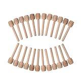 Confezione da 24mini spargimiele in legno, per prendere il miele dal vasetto o da utilizzare come bomboniera di matrimonio o feste –8,1cm, confezionati singolarmente
