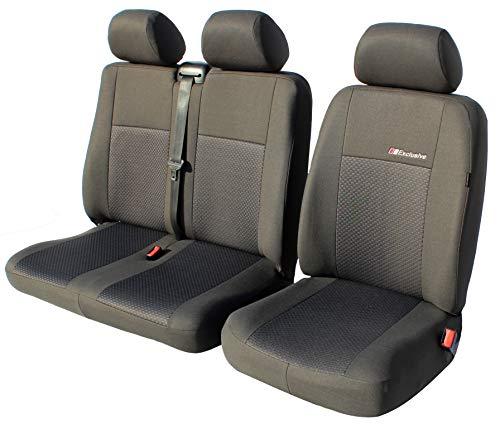 Exclusive Autositzbezüge Sitzbezüge Universal Fahrersitz + 2er Beifahrersitzbank Schonbezüge (Diactric)