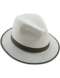 EveryHead Fiebig Sombrero De Hombre Tela Verano Equinácea Panamá Fedora Moda  La Marca con Cinta Contraste para Hombres (FI-11127-S18-HE1)… ad9451dd4b3