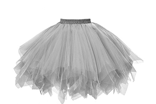 ntage Ballet Blase Firt Tulle Petticoat Puffy Tutu Silver Small/Medium ()