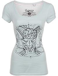 DreiMaster - Camiseta - manga 3/4 - para mujer