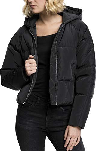 Urban Classics Ladies Hooded Oversized Puffer Jacket Giacca, Nero (Black 7), Large Donna