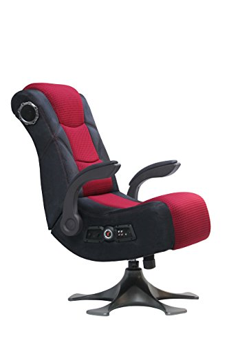 änder Video Gaming Stuhl 2.1Mikrofaser Mesh, Schwarz/Rot ()