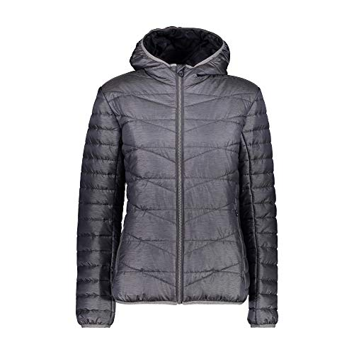CMP W Jacket FIX Hooded Neutral Grau, Damen Freizeitjacke, Größe 48 - Farbe Graffite Mel.