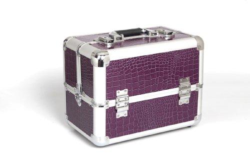 Malette de rangement pour Nail Art imitation Croco - Violette