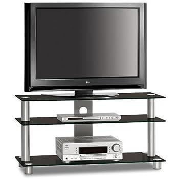 just rack tv 1203 aluminium universalmobel fur flachbildschirme tv und audio gerate