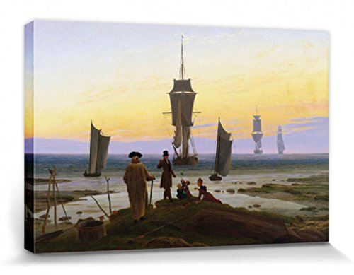 1art1 55596 Caspar David Friedrich - Die Lebensstufen, 1835 Poster Leinwandbild Auf Keilrahmen 120 x...