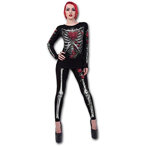Spiral Rose Bones Leggings Skelett Knochen Gothic Leggins