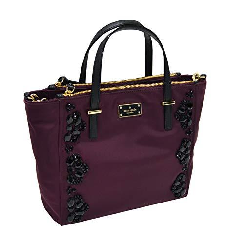 Kate Spade New York Wilson Road Embellished Alyse Womens Shoulder Crossbody Top-Handle Nylon Bag -