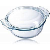 Pyrex Classic 1040704 - Cacerola redonda con tapa, 5L, vidrio, transparente, 3.75 l